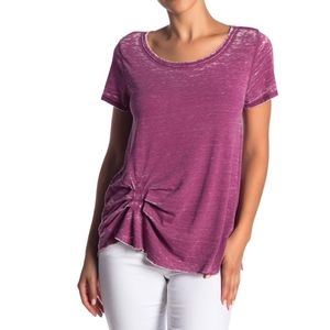 Melrose and Market Pleated Washed Tee